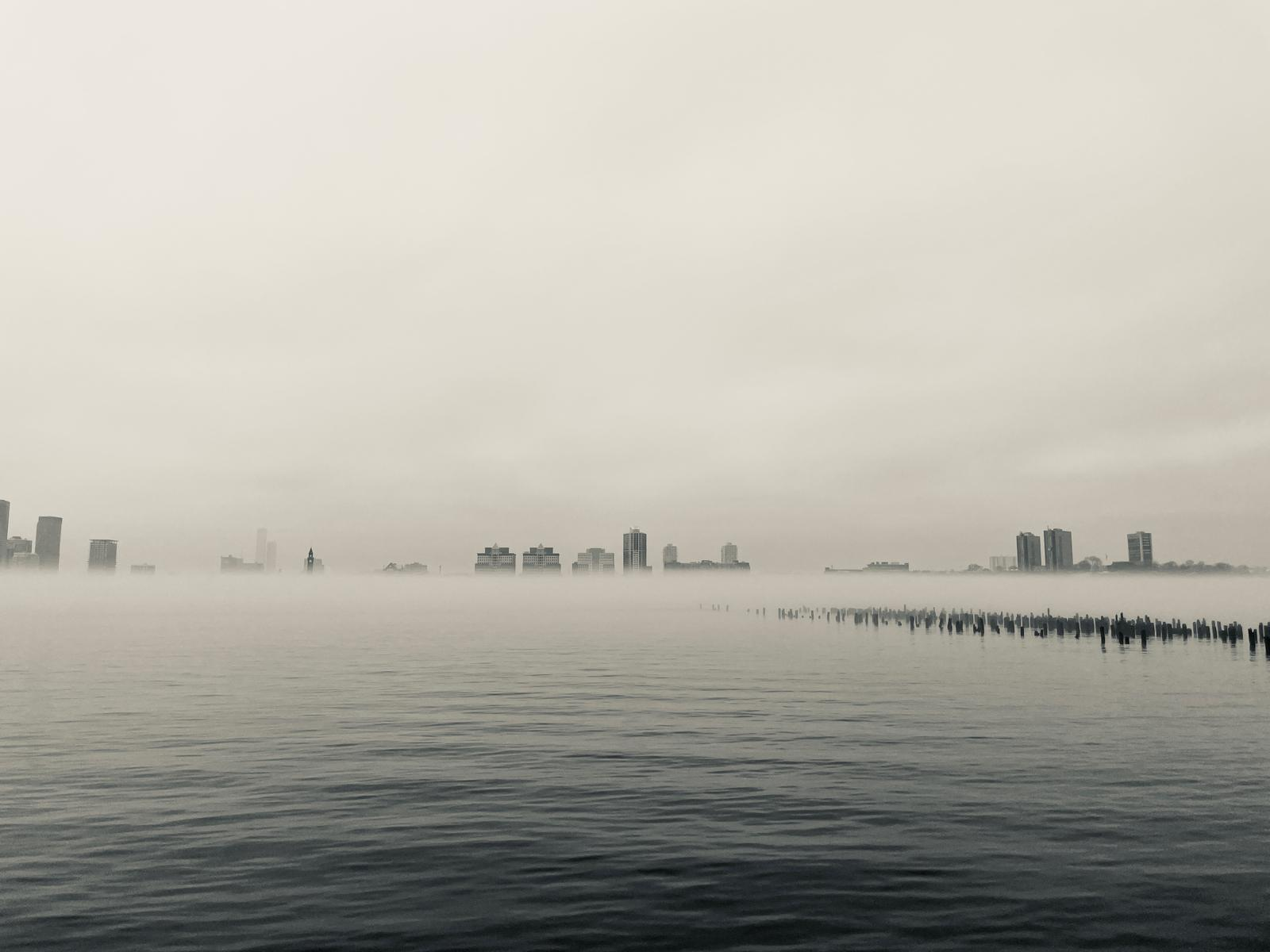 A Foggy Portrait of the Hudson River