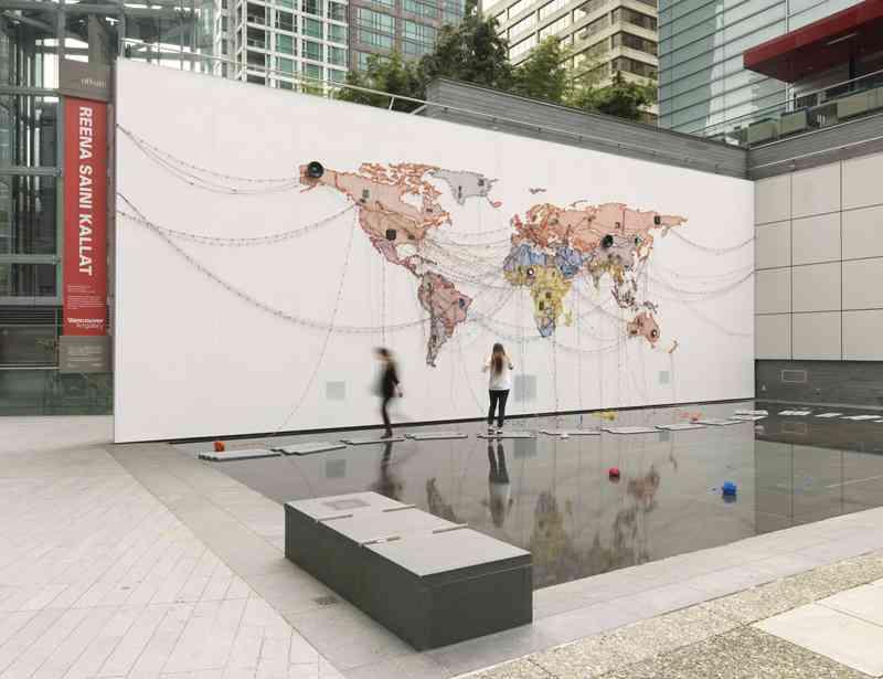 Woven Chronicle by Reena Saini Kallat at Vancouver Art Gallery