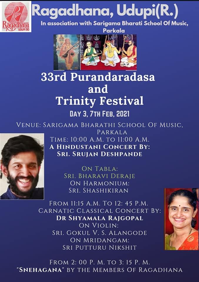 Live at the 33rd Purandaradasa & Trinity Festival, Ragadhana, Udupi